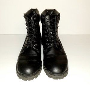 Lugz Convoy Black Work Boots Size 8.5